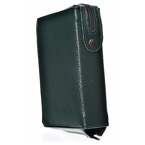 Daily prayer cover green bonded leather, Our Lady of the Tenderness 2
