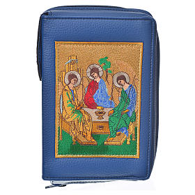 Daily prayer cover blue bonded leather with Holy Trinity s1