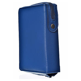Daily prayer cover blue bonded leather with Holy Trinity s2