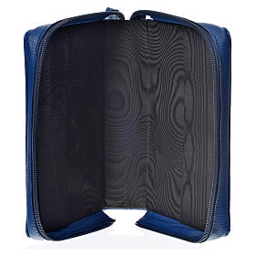 Daily prayer cover blue bonded leather with Holy Trinity s3