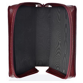 Cover Daily prayer burgundy bonded leather with Holy Family s3
