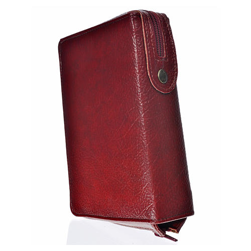 Cover Daily prayer burgundy bonded leather with Holy Family 2
