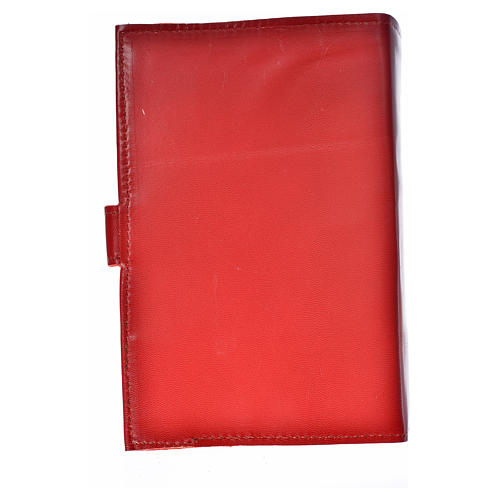 Daily prayer cover red genuine leather Christ Pantocrator 2