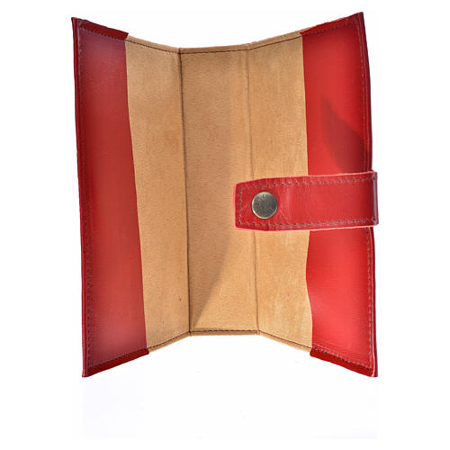 Daily prayer cover red genuine leather Christ Pantocrator 3
