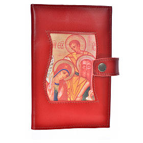Daily prayer cover burgundy leather Holy Family s1
