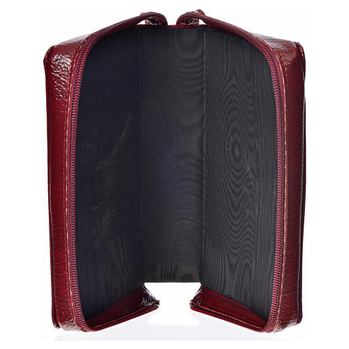Catholic Bible Anglicized cover, burgundy bonded leather with image of the Divine Mercy 3