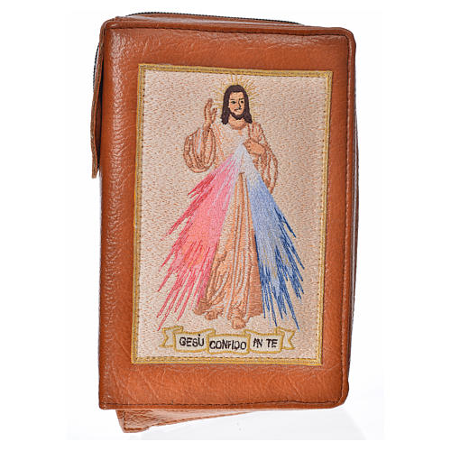 Catholic Bible Anglicised cover brown bonded leather with Divine Mercy 1