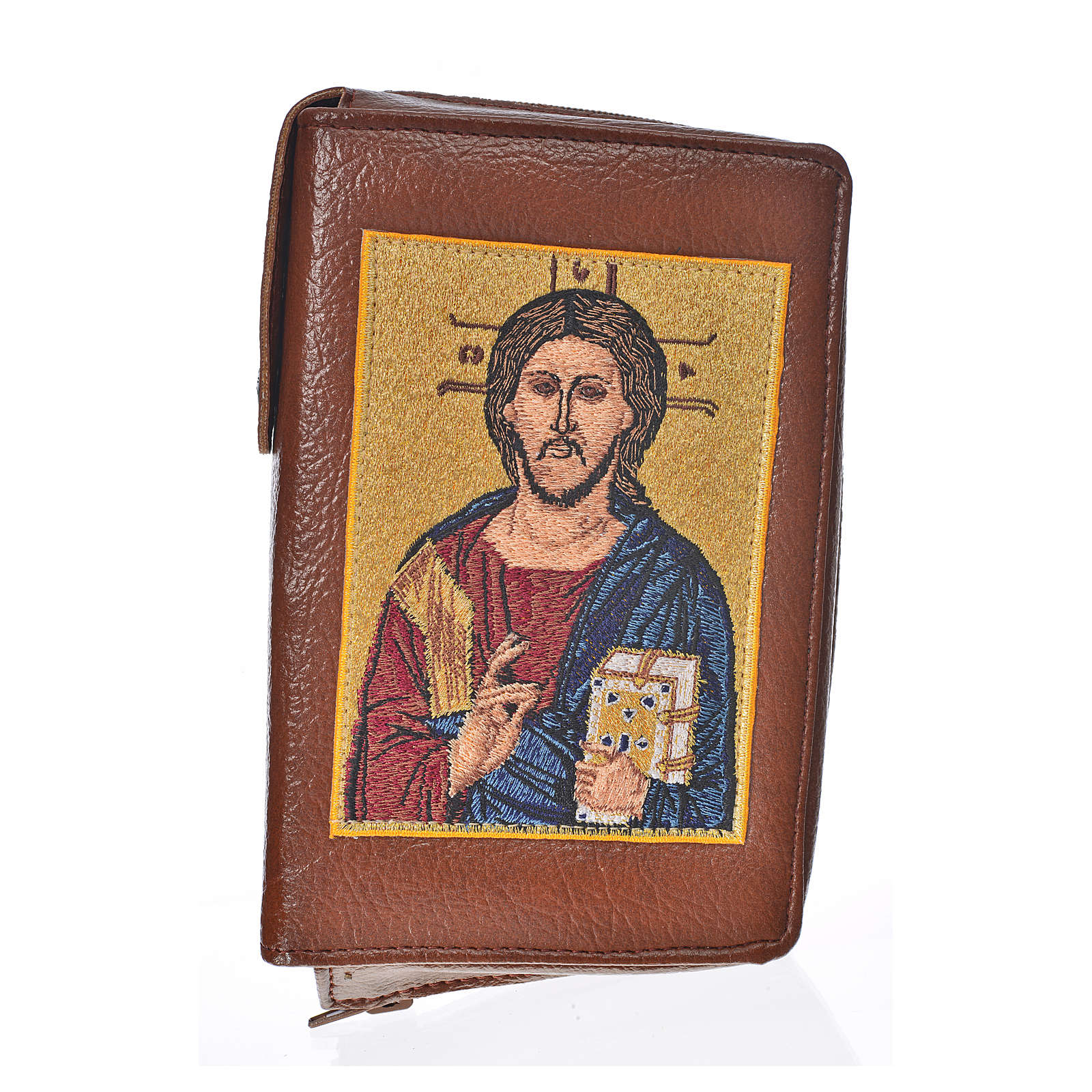 Catholic Bible Anglicised cover bonded leather with Christ Pantocrator image 4