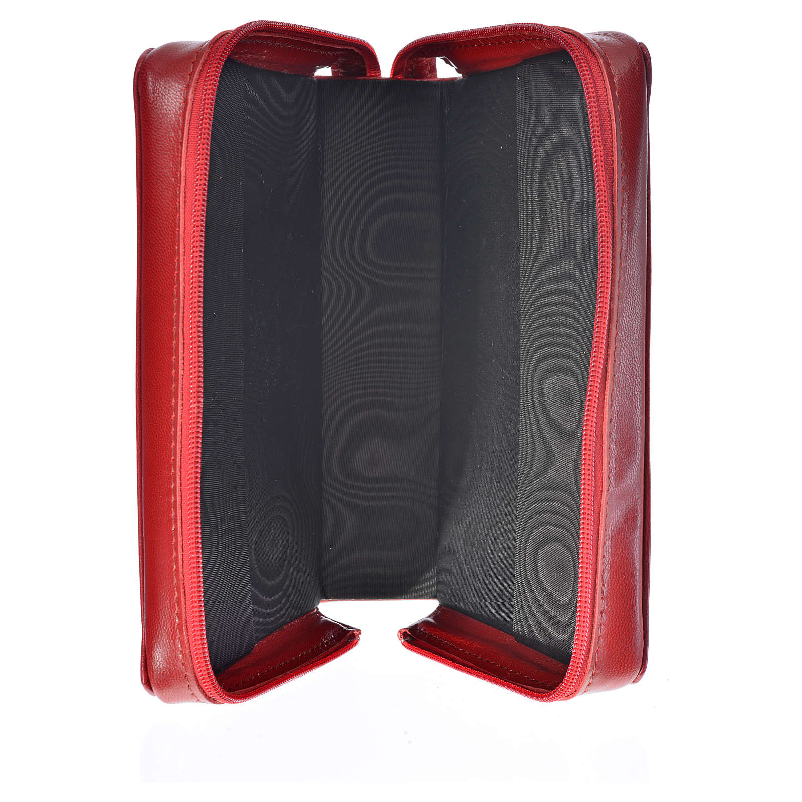 Catholic Bible cover red leather Christ 4