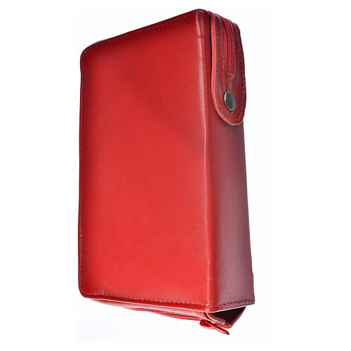 Catholic Bible cover red leather Christ 2