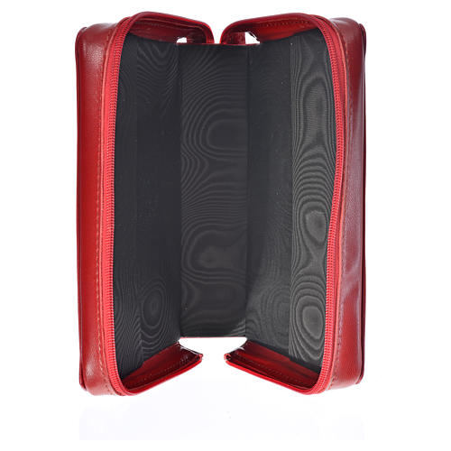 Catholic Bible cover red leather Christ 3