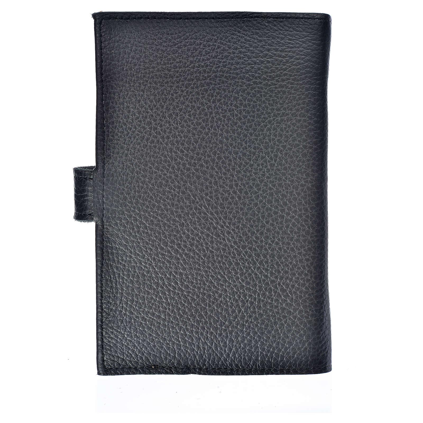 Catholic Bible cover black leather Holy Trinity 4