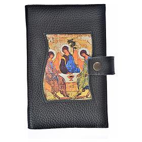 Catholic Bible cover black leather Holy Trinity s1