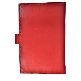 Catholic Bible cover burgundy leather Holy Family s2