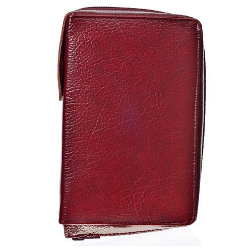 Cover for the New Jerusalem Bible READER ED, burgundy bonded leather 1
