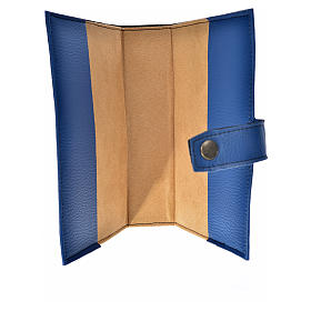 Blue leather imitation New Jerusalem bible READER EDITION cover in English with image of Our Lady s3