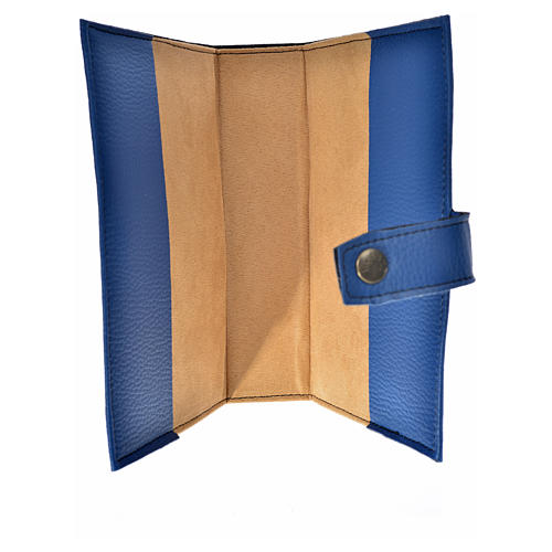 Blue leather imitation New Jerusalem bible READER EDITION cover in English with image of Our Lady 3