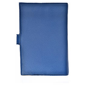 Bible cover reader edition, blue leather Our Lady s2