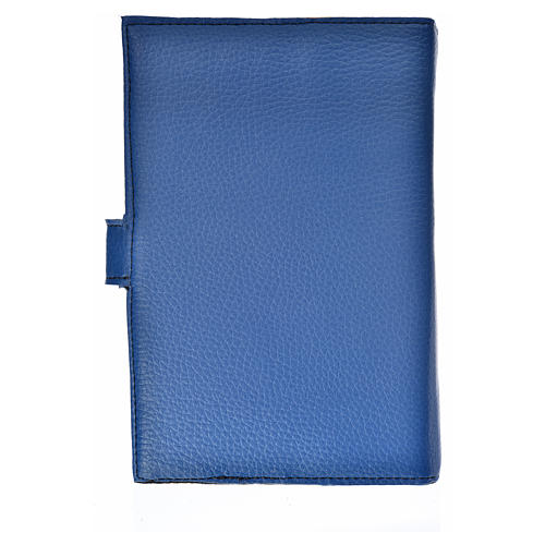Bible cover reader edition, blue leather Our Lady 2