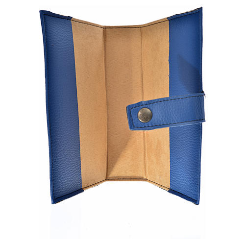 Bible cover reader edition, blue leather Our Lady 3