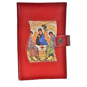 Bible cover reader edition, burgundy leather Holy Trinity s1