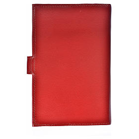 Bible cover reader edition, burgundy leather Holy Trinity s2