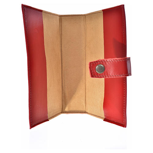 Bible cover reader edition, burgundy leather Holy Trinity 3