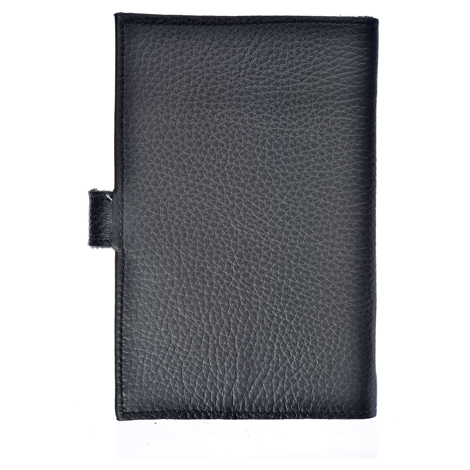 Bible cover black bonded leather Our Lady of Kiko 4