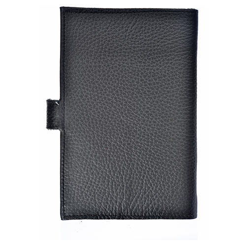 Bible cover black bonded leather Our Lady of Kiko 2