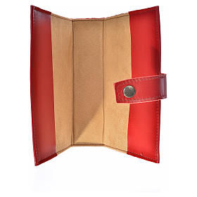 Bible cover reader edition, burgundy leather Holy Family s3