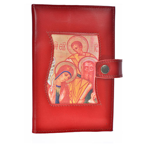 Bible cover reader edition, burgundy leather Holy Family 1