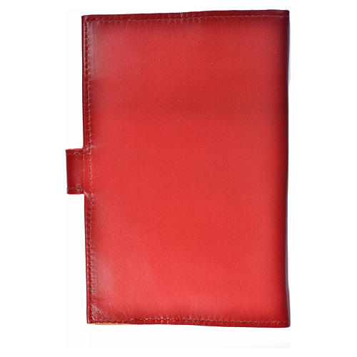 Bible cover reader edition, burgundy leather Holy Family 2