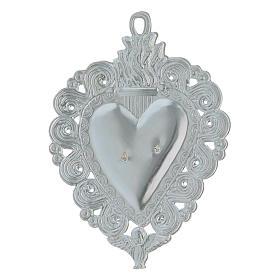 Exvoto Corazón llama y ángel 9.5 x 7.5 cm. s2
