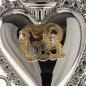 Ex-voto, Votive heart with angel 9.5x7.5cm s5