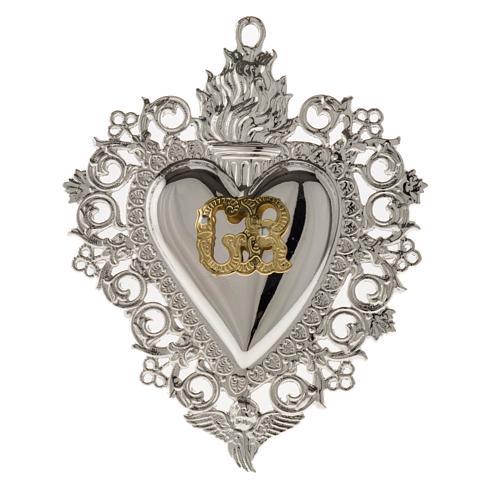 Ex-voto, Votive heart with angel 9.5x7.5cm 1