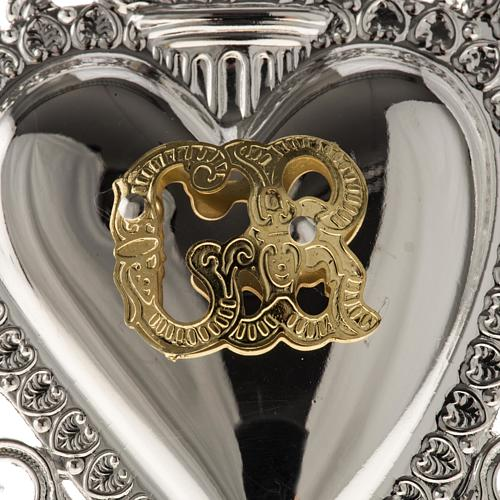 Ex-voto, Votive heart with angel 9.5x7.5cm 5