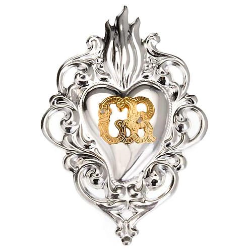 Exvoto Corazón llama 8 x 6 cm. 1