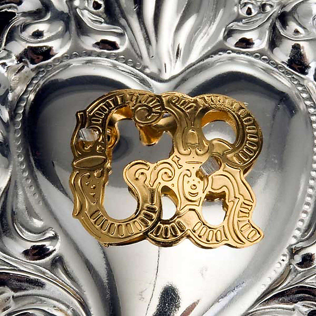Ex-voto en coeur flamme 8x6 cm 3