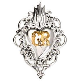 Ex-voto, Votive heart with flame 8x6cm s1