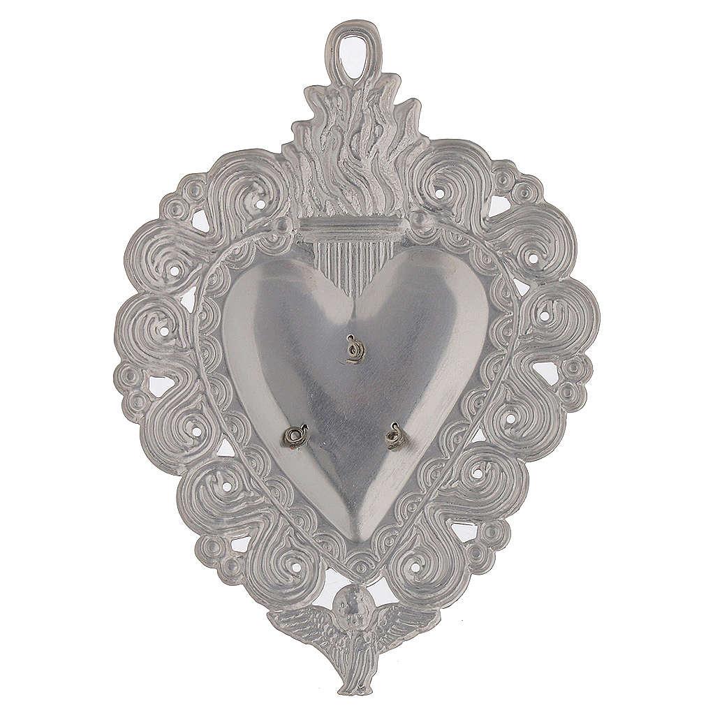Votive heart, Hail Mary 9.5x7.5cm 3