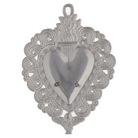 Votive heart, Hail Mary 9.5x7.5cm s2