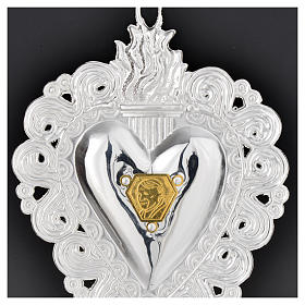 coeur votif Jean Paul II 9.5x7.5 cm s4