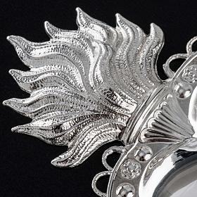 Corazón votivo decoración floral 10,5 x 7 cm s3