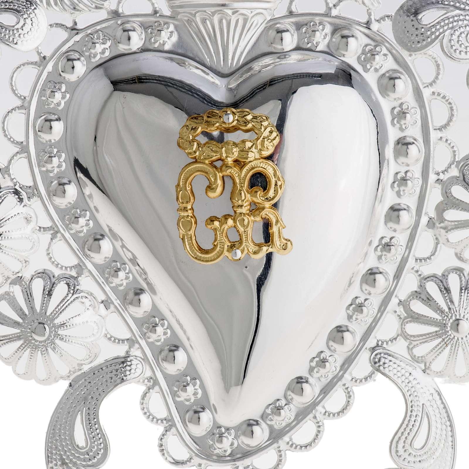 Corazón votivo filigrana 14 x 20 cm. 3