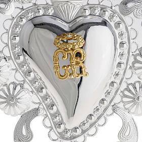 Corazón votivo filigrana 14 x 20 cm. s2