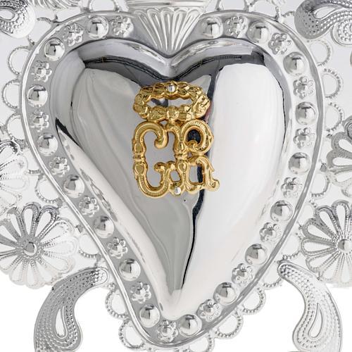 Corazón votivo filigrana 14 x 20 cm. 2