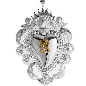Ex-Voto: Coeur votif filigrane 14x20 cm