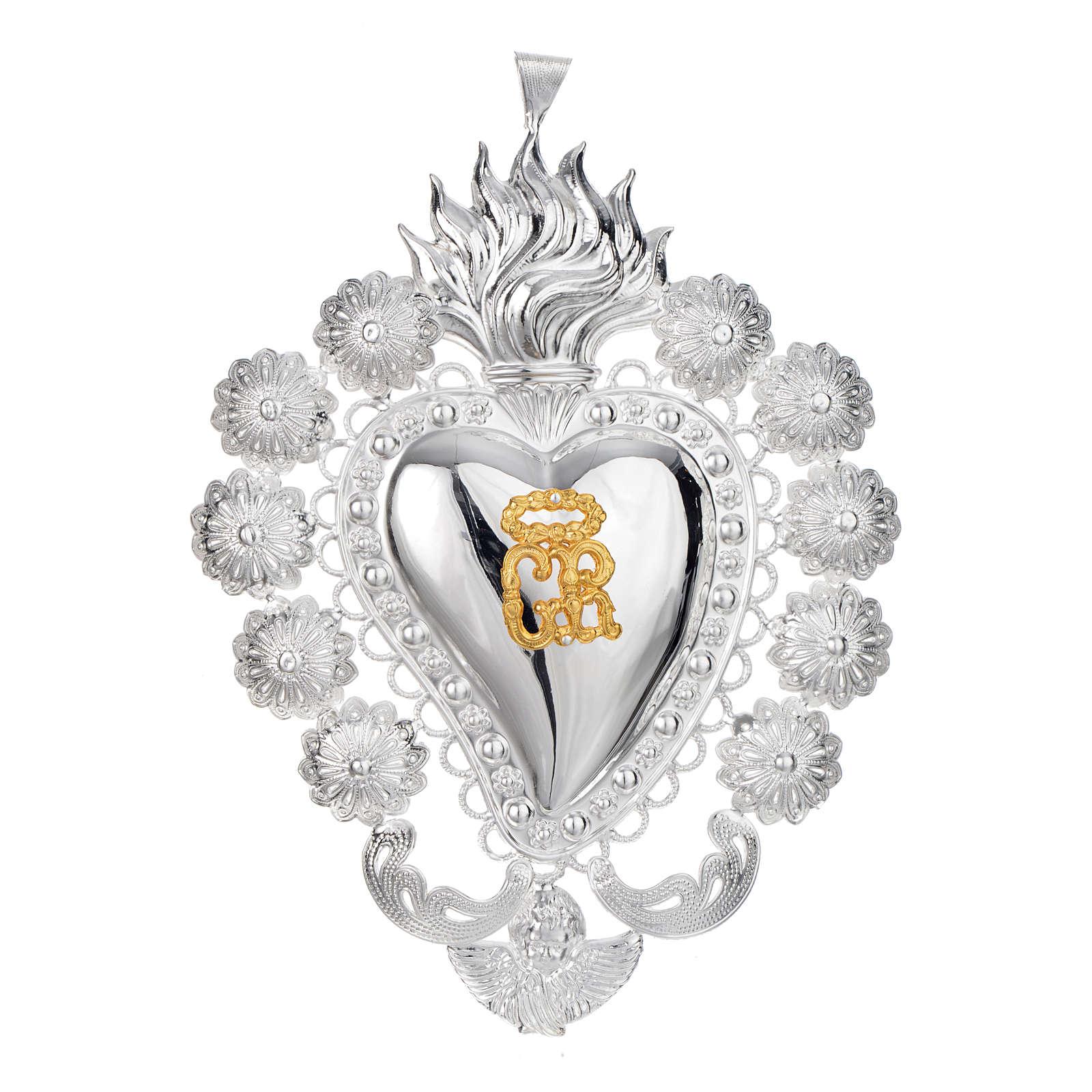 Coeur votif filigrane 15x20 cm 3