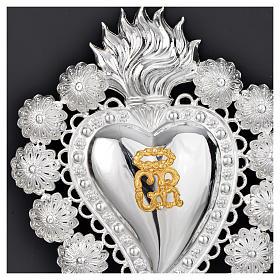 Coeur votif filigrane 15x20 cm s2