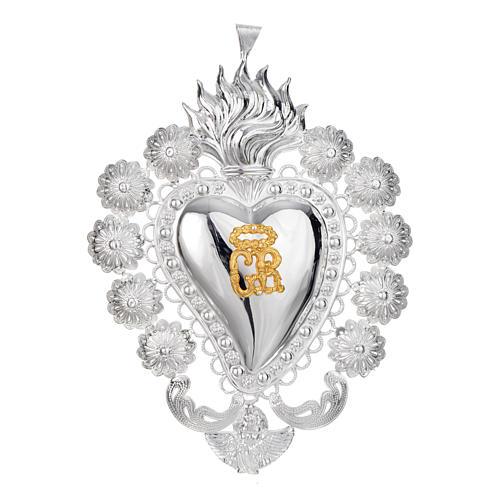 Coeur votif filigrane 15x20 cm 1